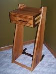 angled side table