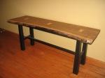raw edge walnut table