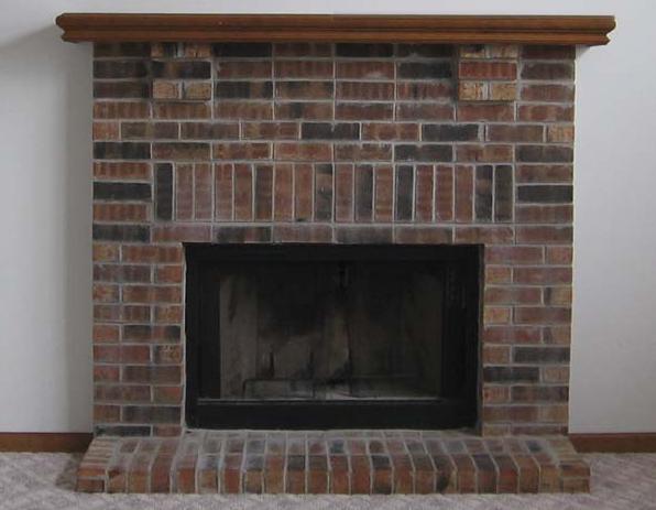 "Brick fireplace ""before"""