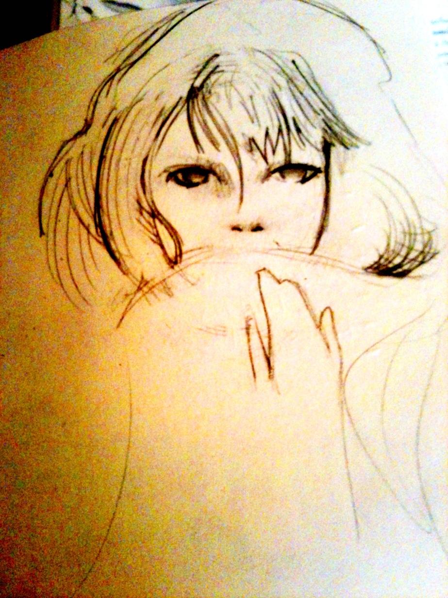 sketchbook drawing - girl
