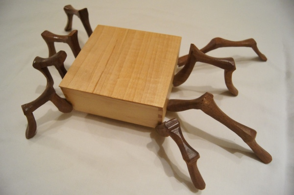 handmade, art, wooden, woodworking, box, gallery, badass, dark, spider, carving, creepy