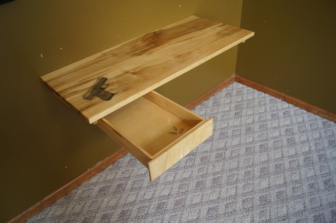 9mm handgun desk
