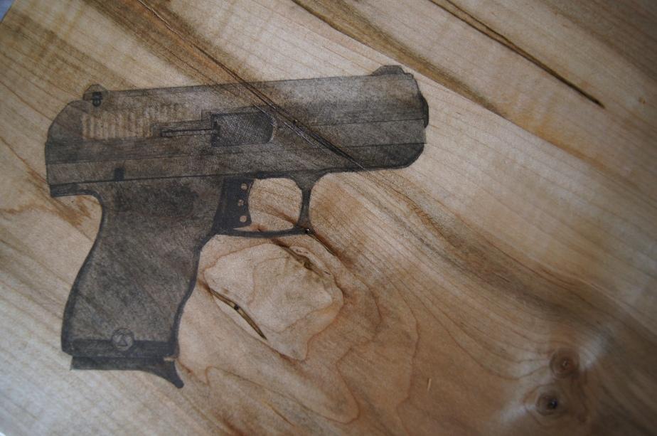 9mm handgun drawing