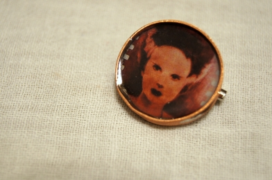 Handmade, copper, pin, jewelry, horror, movie, universal monster, classic, accessories