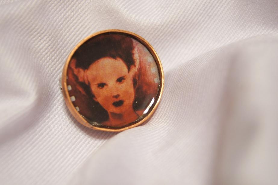 Handmade, copper, pin, jewelry, horror, movie, universal monster, classic, accessories