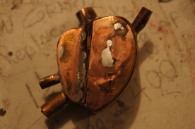 copper, metal, steampunk, box, art, handmade, hand made, solder