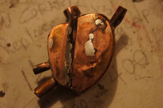 copper, metal, steampunk, box, art, handmade, hand made, solder