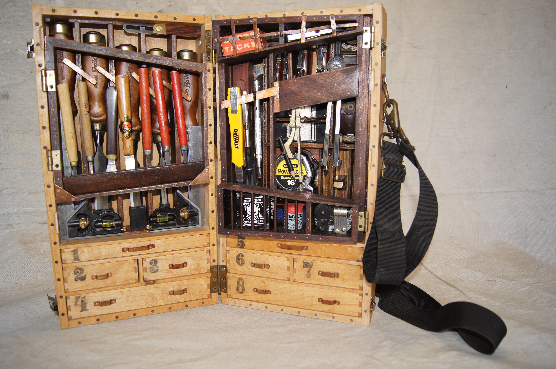 Custom Wooden Tool Boxes for Pinterest