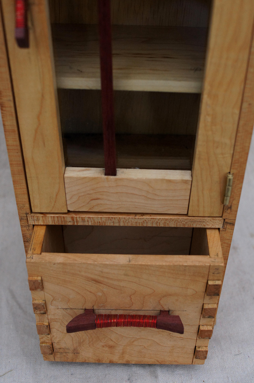 Handmade modern wood furniture - Bent Wood Cabinet Tonyfrentrop Com