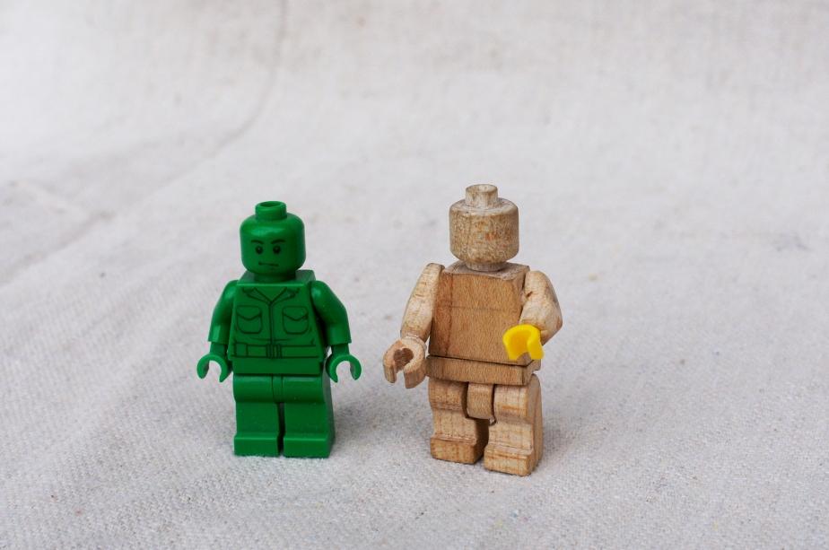 Wooden Lego Man