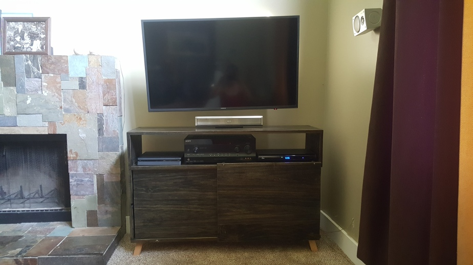Sliding Door Entertainment Stand